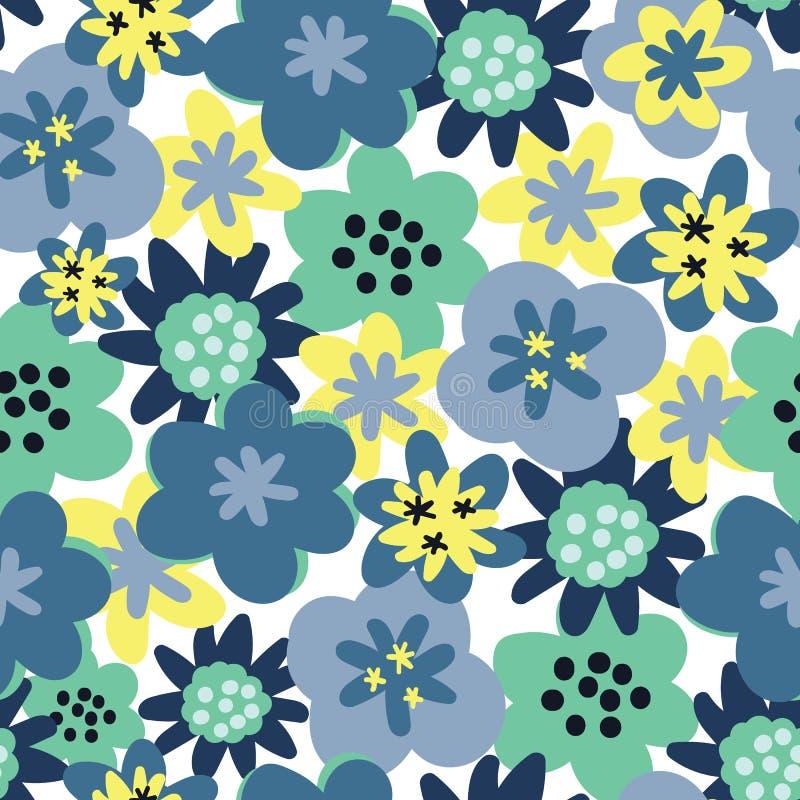 传染媒介无缝的样式背景花无缝的样式 雏菊背景 向量例证