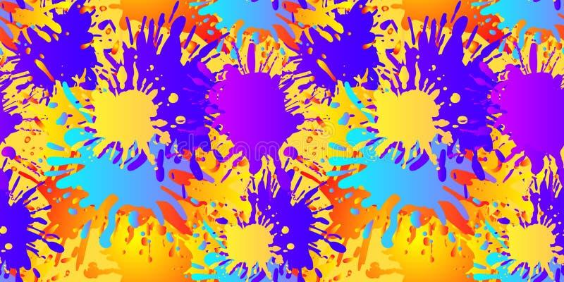 传染媒介无缝的样式,液体抽象形状,绘的背景 向量例证