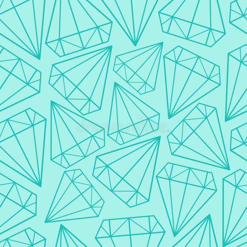 传染媒介无缝的样式,纹理,与水晶的印刷品 库存例证