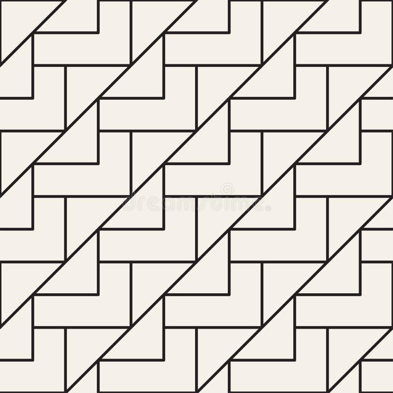 传染媒介无缝的格子样式 与单色格子的现代时髦的纹理 重复几何栅格 简单的设计 向量例证