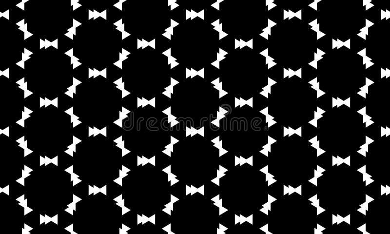 传染媒介无缝的黑白几何样式背景 ?? 库存例证
