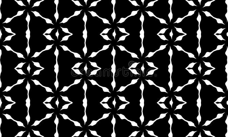 传染媒介无缝的黑白几何样式背景 ?? 皇族释放例证