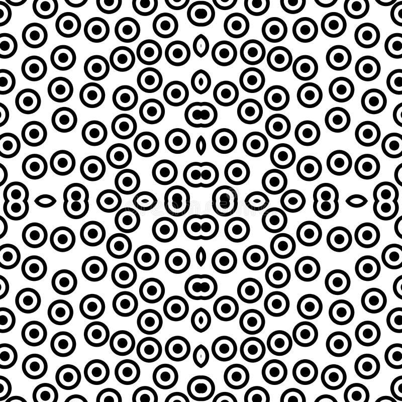 传染媒介无缝的黑白别针象样式背景 设计,盖子 库存例证