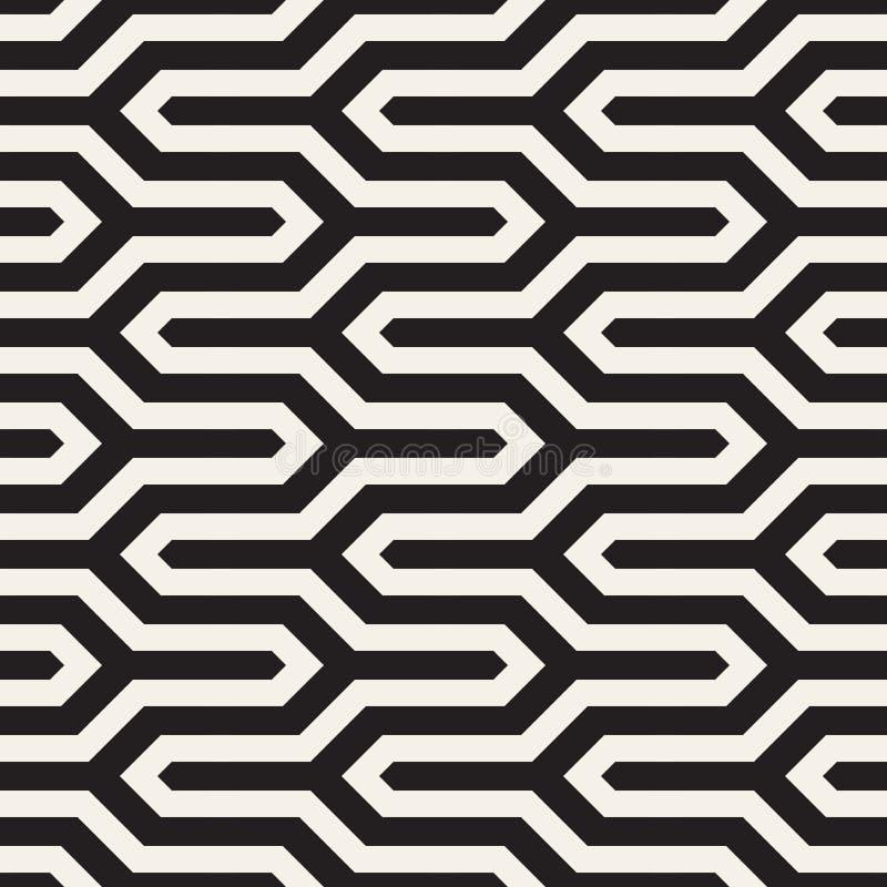 传染媒介时髦的无缝的样式 r 简单的线性格子背景 向量例证
