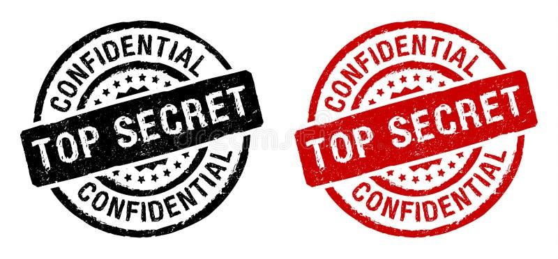 传染媒介最高机密的邮票 向量例证