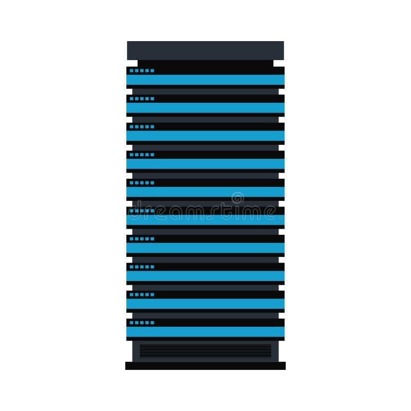 传染媒介服务器机架象数据库存贮设计 向量例证