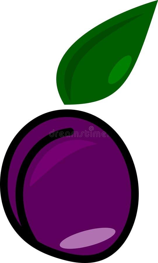 传染媒介李子紫色 免版税库存图片