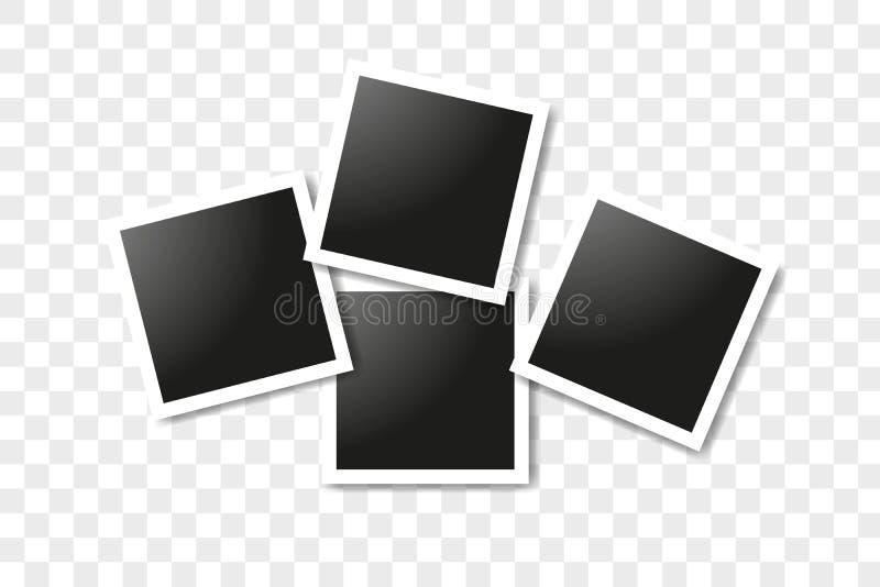 E 传染媒介构筑在透明背景的照片拼贴画 库存例证