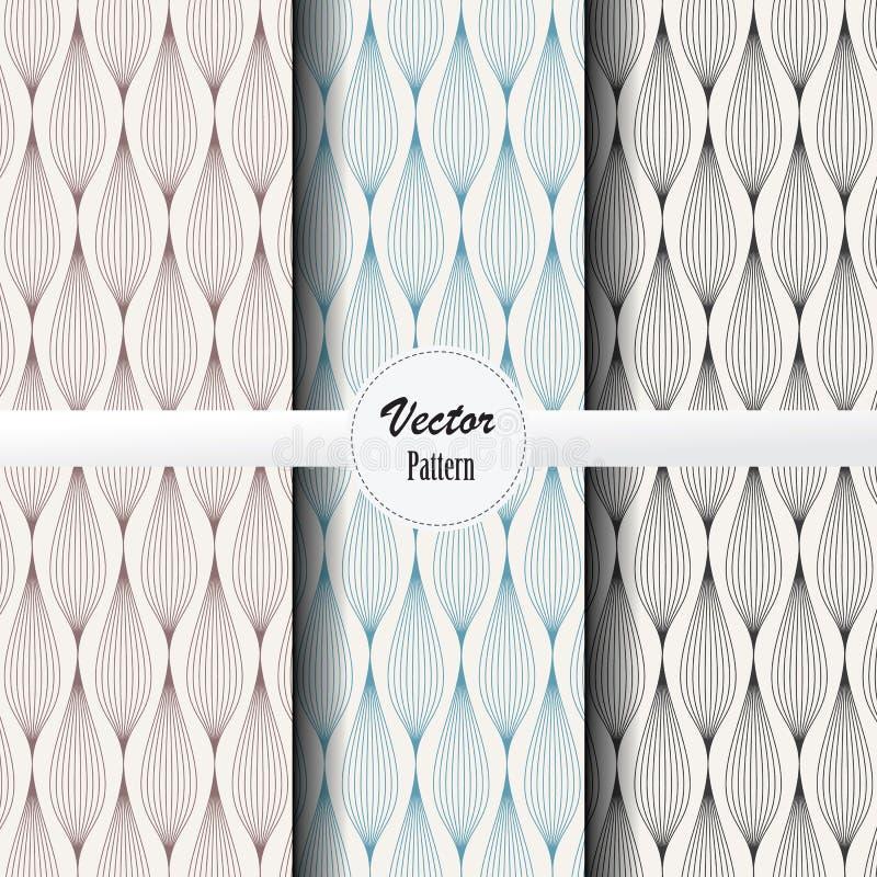传染媒介样式套诗歌选抽象背景用不同的颜色 导航墙纸的干净的设计,打印,织品 向量例证