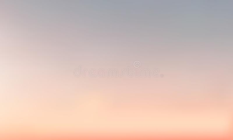 传染媒介梯度被弄脏的背景 自然颜色 天空颜色 向量例证