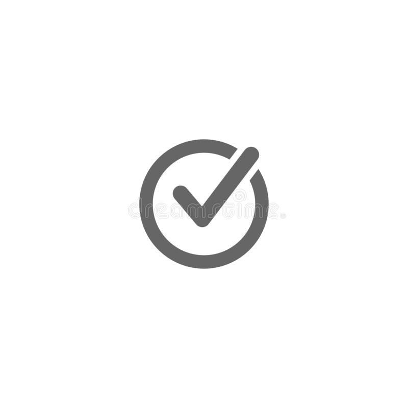 传染媒介检查检查号平的象圆简单 向量例证