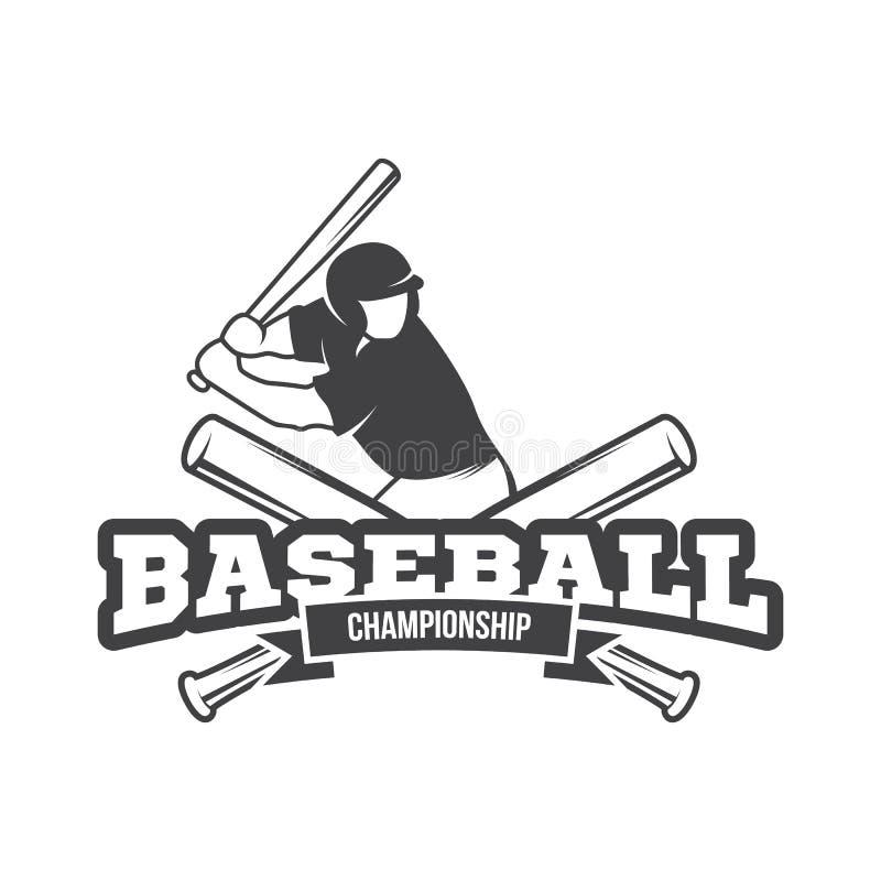 传染媒介棒球商标和权威 免版税库存照片