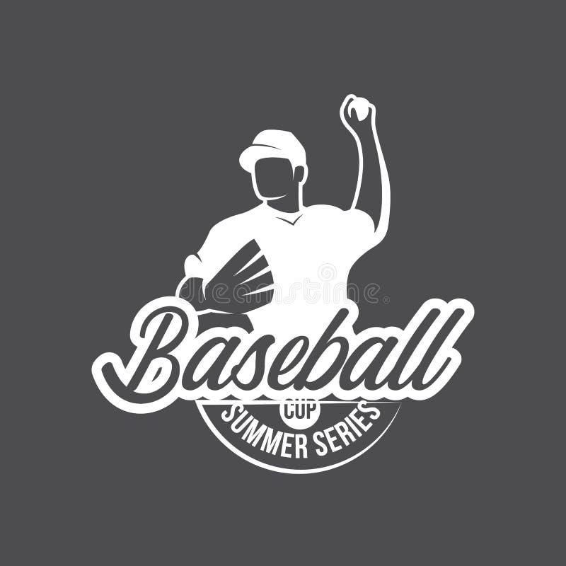 传染媒介棒球商标和权威 免版税图库摄影