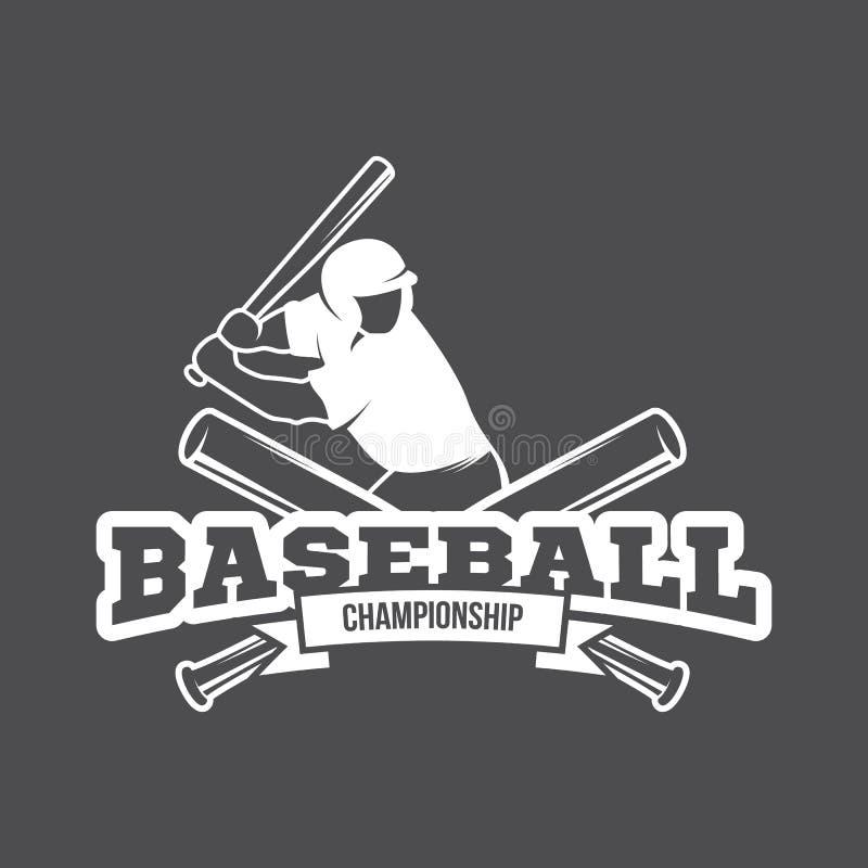 传染媒介棒球商标和权威 库存图片
