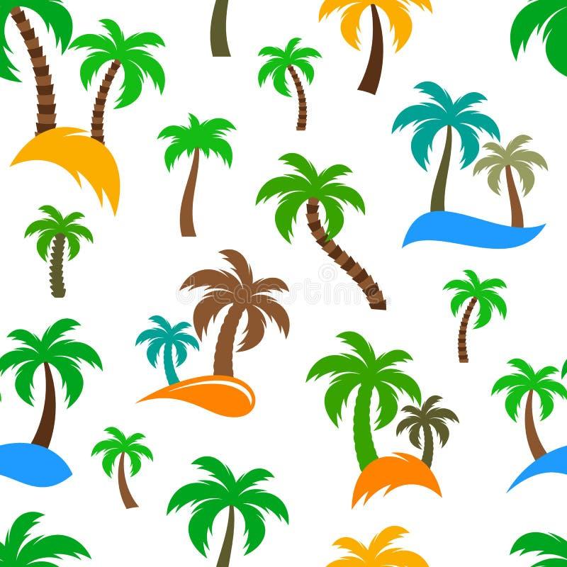 传染媒介棕榈树无缝的样式 库存例证