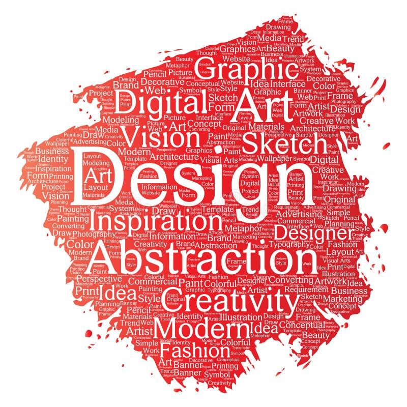 传染媒介概念性创造性艺术图表身分设计视觉画笔词云彩隔绝了背景 广告拼贴画  皇族释放例证