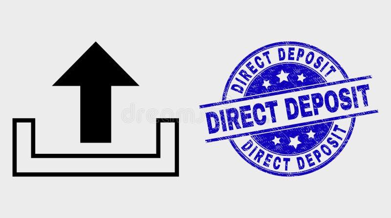 传染媒介概述加载象和被抓的直接储蓄邮票 向量例证