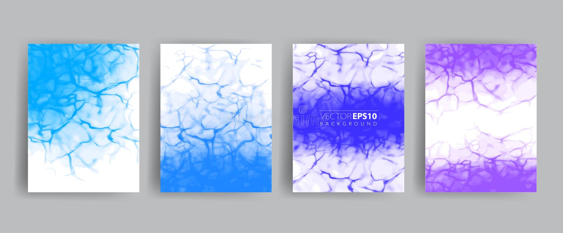 传染媒介横幅集合 卡片的,模板,网现实水表面例证 库存例证