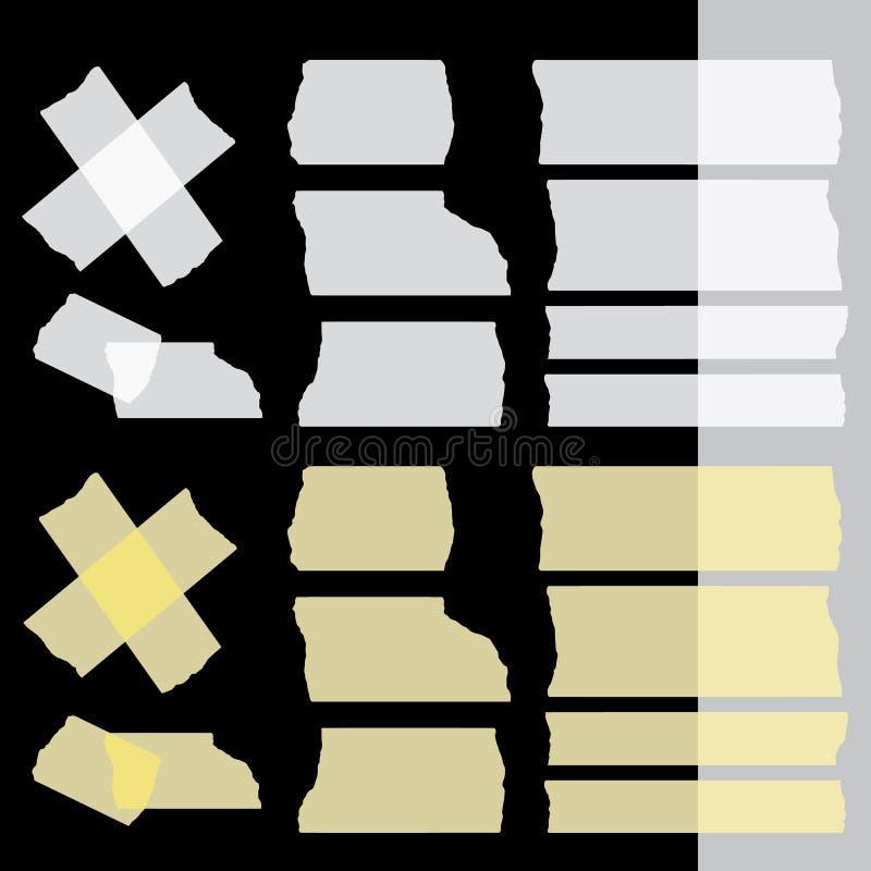 传染媒介橡皮膏在黑黑暗的背景设置了 图库摄影
