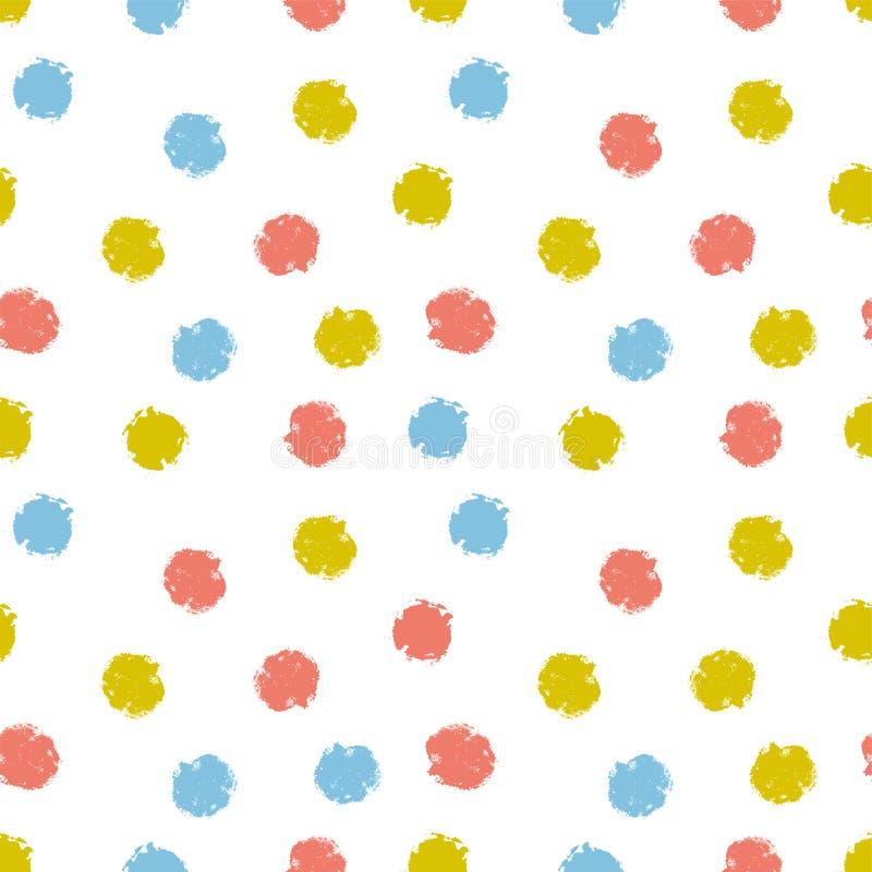 传染媒介欢乐五彩纸屑背景 手拉的孩子为织品设计,贴墙纸或者包裹纸 向量例证