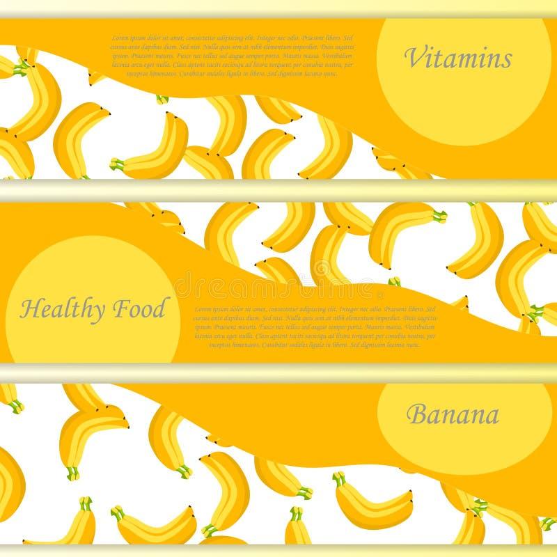 传染媒介正方形标签、香蕉果酱、调味汁或者汁液 库存例证