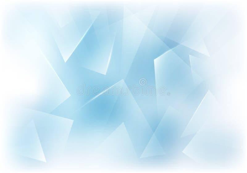 传染媒介毛玻璃蓝色和白色背景 冻结的窗口例证 向量例证