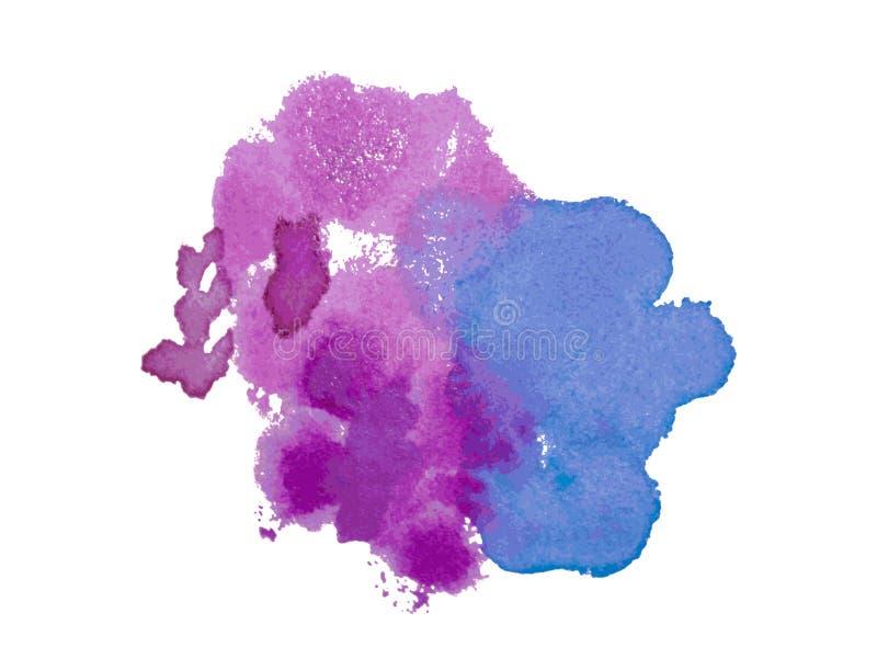 传染媒介水彩污点和飞溅 wat的五颜六色的例证 向量例证