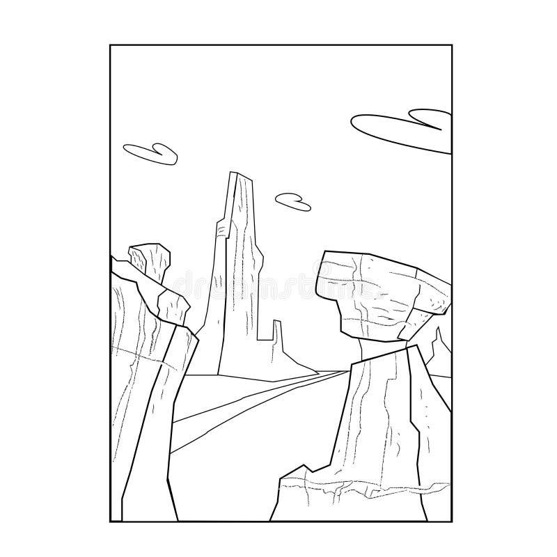 传染媒介沙漠风景 皇族释放例证