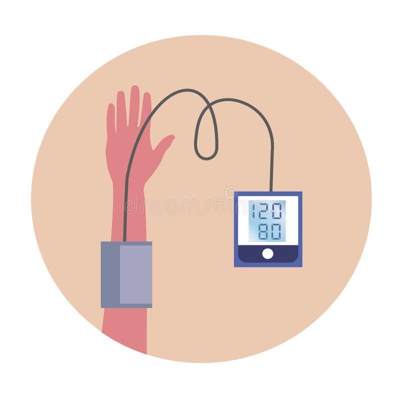 传染媒介测量人的压力的象标 库存照片