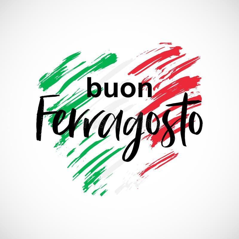 传染媒介海报Buon Ferragosto意大利传统威严的假日 皇族释放例证