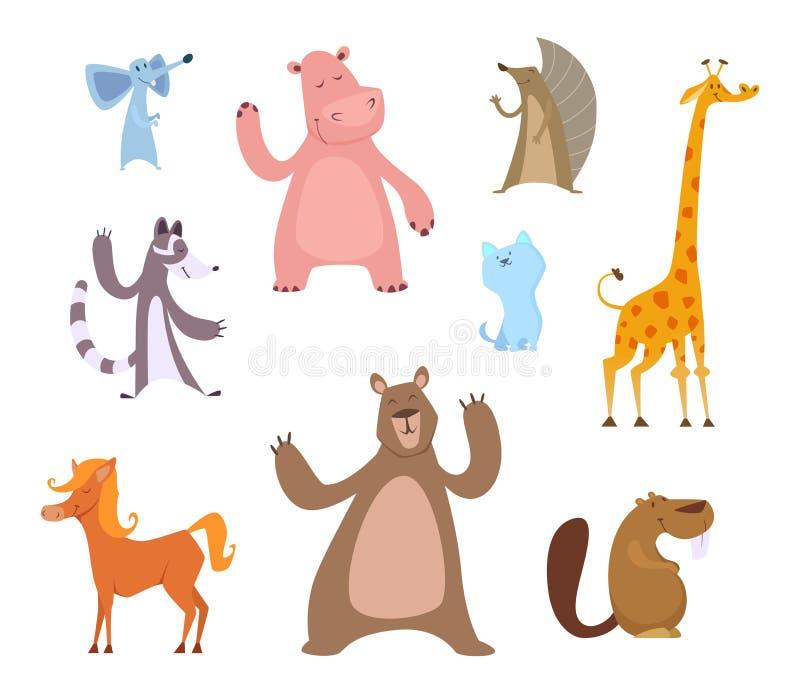 传染媒介滑稽的动物的动画片例证 库存例证