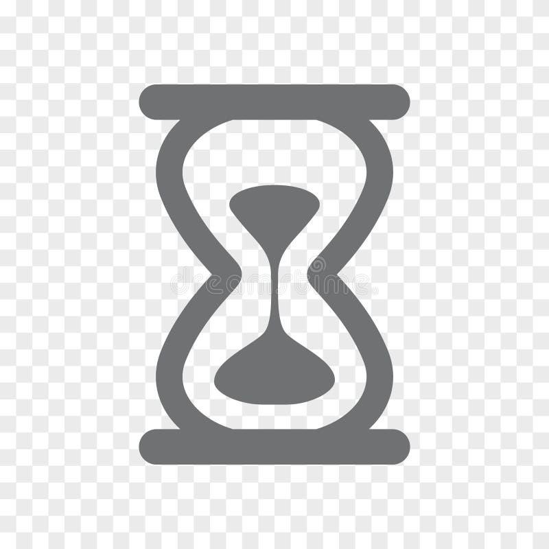 传染媒介滴漏象 沙子时钟标志和标志例证在透明背景 库存例证