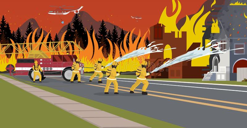 传染媒介灭火例证的动画片 皇族释放例证