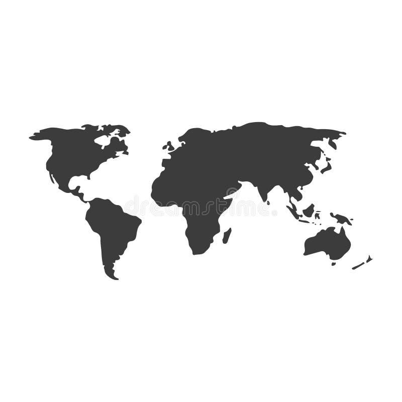 传染媒介灰色世界地图 r 皇族释放例证