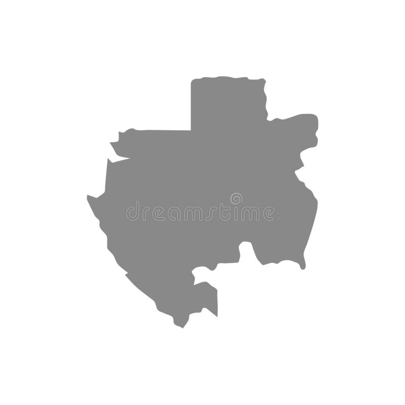 传染媒介灰色地图加蓬 r 在灰色背景的黑色 向量例证