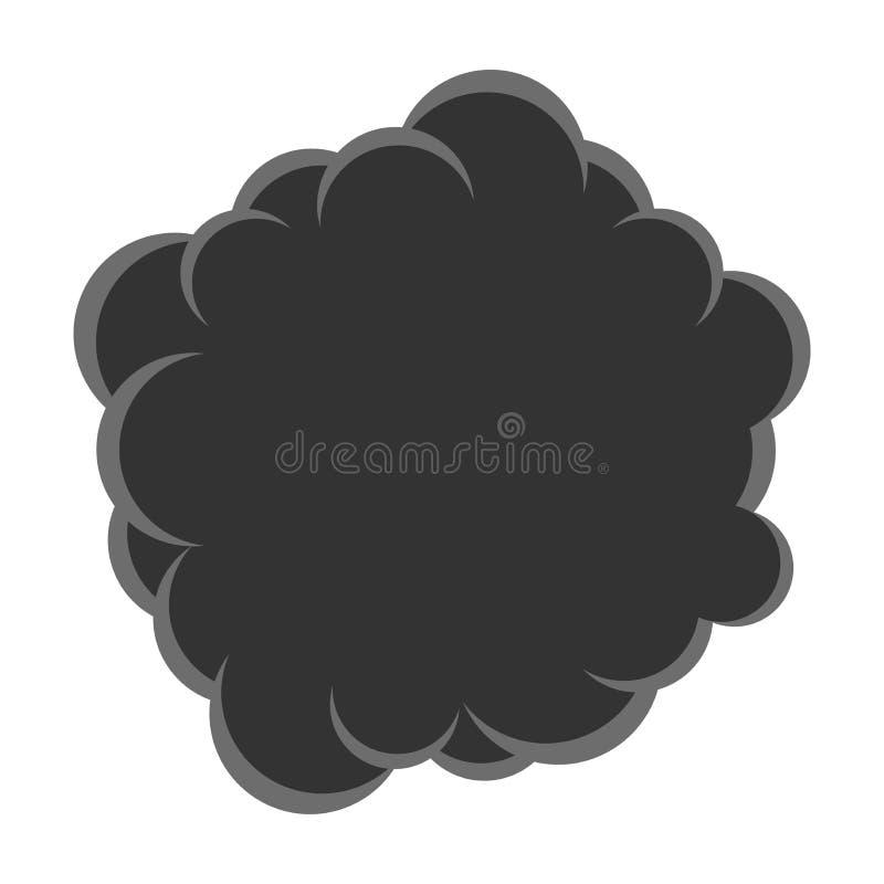 传染媒介烟云污染 库存例证