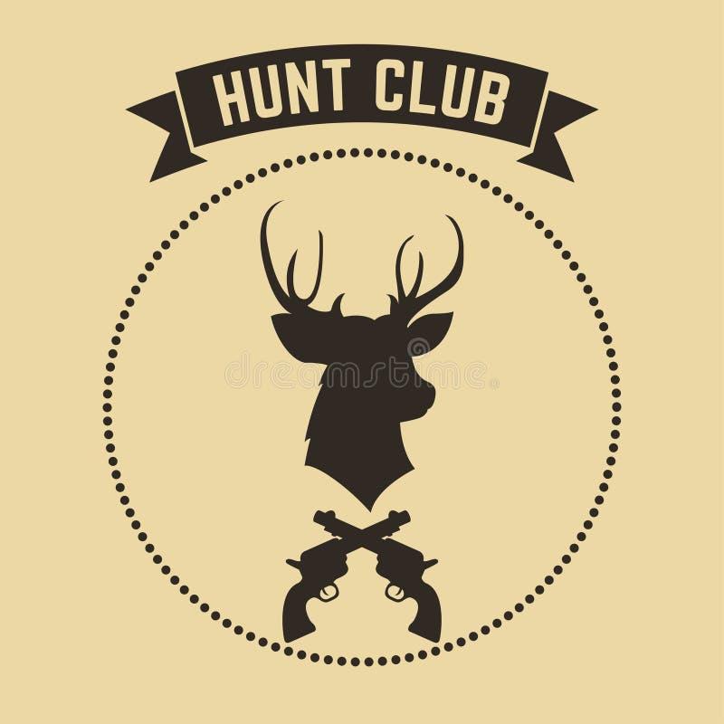 传染媒介狩猎俱乐部象征 皇族释放例证