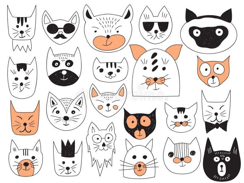 传染媒介猫汇集 库存例证