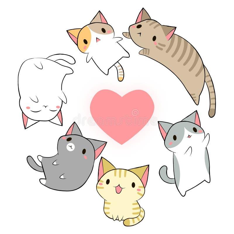 传染媒介猫kawaii 库存照片