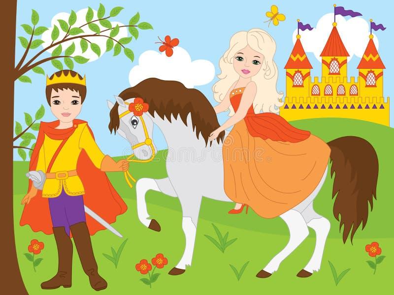 橙色, 童话, 王子, 传说, 剑, 皇家, 城堡, 蝴蝶, 马, 幻想, 魔术