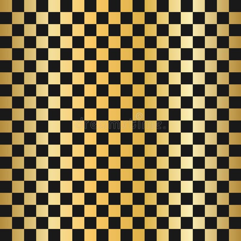传染媒介现代空的金子棋盘背景 您的设计的准备好布局 金子棋背景大模型 向量例证