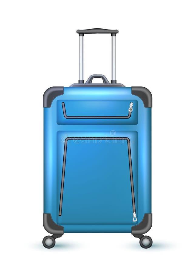 传染媒介现实旅行手提箱袋子假期 皇族释放例证