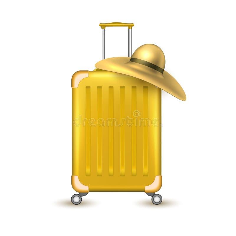 传染媒介现实旅行手提箱袋子假期 向量例证