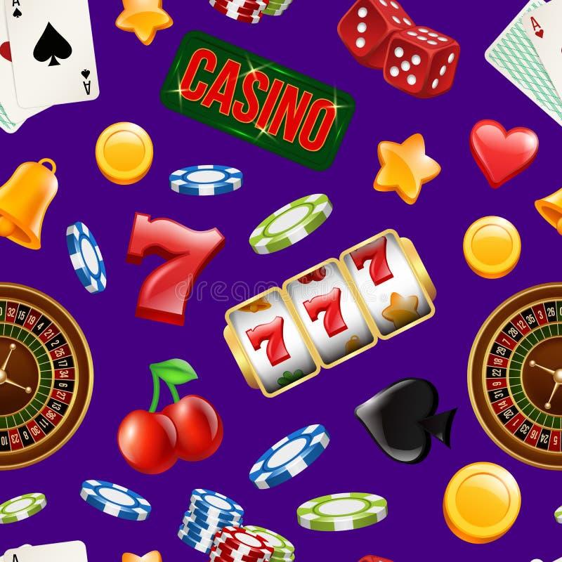 传染媒介现实赌博娱乐场赌博样式或背景例证 向量例证