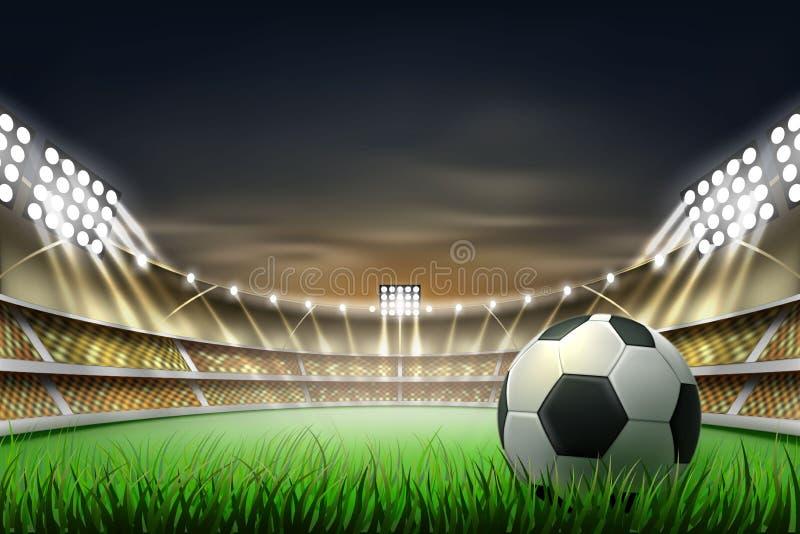 传染媒介现实footbal足球场背景 皇族释放例证