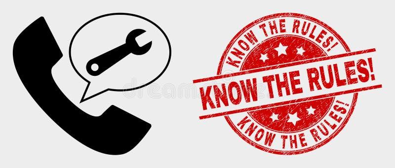 传染媒介电话服务消息象和难看的东西认识规则!邮票 皇族释放例证