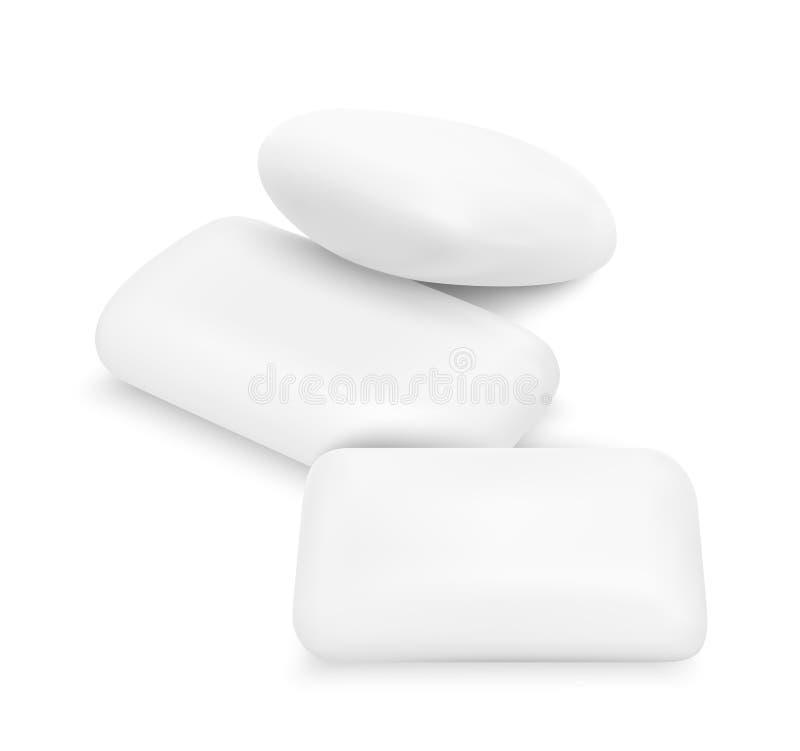 传染媒介白色泡泡糖 皇族释放例证