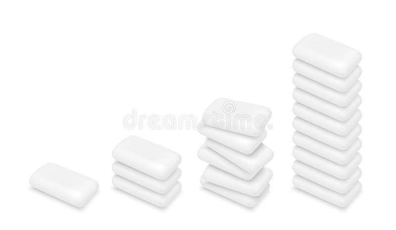 传染媒介白色泡泡糖 向量例证