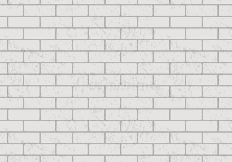 传染媒介白色砖墙样式 现实轻的砖墙背景 向量例证