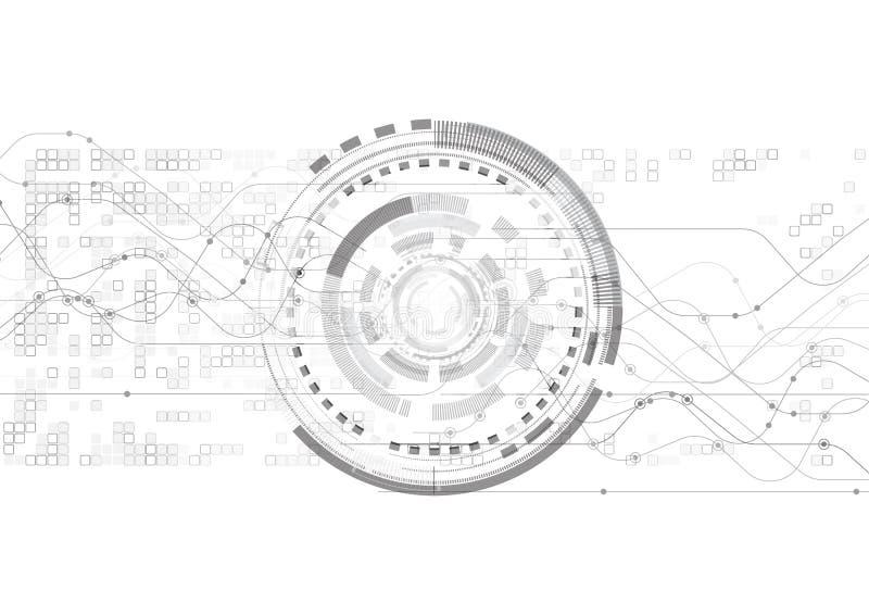 传染媒介白色背景摘要技术通信数据 库存例证